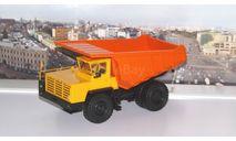 БелАЗ-7510 самосвал-углевоз, желтый / оранжевый    НАП, масштабная модель, Наш Автопром, scale43