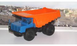 БелАЗ-7525 самосвал-углевоз, синий / оранжевый   НАП, масштабная модель, Наш Автопром, scale43