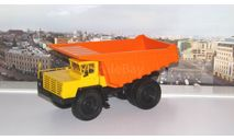 БелАЗ-7525 самосвал-углевоз, желтый / оранжевый   НАП, масштабная модель, Наш Автопром, scale43