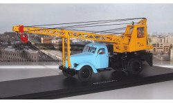 Автокран АК 75 (на шасси ЗИЛ-164), голубой/жёлтый SSM