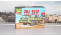 Сборная модель Автомобиль-амфибия ЗИЛ-132П с двигателем ВК-1   AVD Models KIT, масштабная модель, 1:43, 1/43