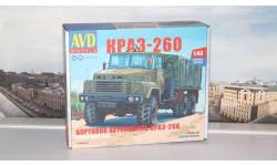 Сборная модель КРАЗ-260 бортовой (ранний)   AVD Models KIT
