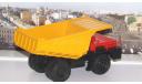 БелАЗ-7526 карьерный самосвал, красный / желтый   НАП, масштабная модель, Наш Автопром, scale43