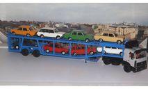 МАЗ-5432 с полуприцепом-автовозом 934410 (А908)    SSM, масштабная модель, 1:43, 1/43, Start Scale Models (SSM)