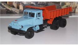 КрАЗ 222Б (68г)  голубой/оранжевый НАП, масштабная модель, 1:43, 1/43, Наш Автопром