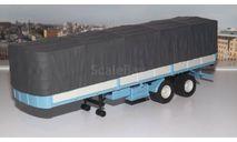 полуприцеп МАЗ 5205А  с тентом, голубой с серым   НАП, масштабная модель, 1:43, 1/43, Наш Автопром