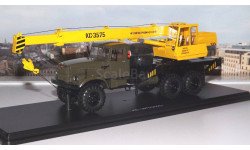 Автокран КС 3575 (на шасси КРАЗ-255Б1) хаки/желтый   SSM