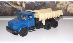 КрАЗ 6510 (1985-94г.)синий  бежевый НАП, масштабная модель, 1:43, 1/43, Наш Автопром