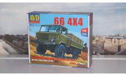 Сборная модель Армейский грузовик Горький-66 4х4     AVD Models KIT, масштабная модель, ГАЗ, scale43