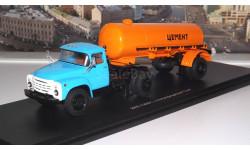 ЗИЛ 130В1 (поздний)+полуприцеп ТЦ 4 Цемент (оранжевый) SSM