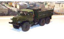 УРАЛ 375 (тентованная кабина) бортовой, хаки АИСТ, масштабная модель, scale43, Автоистория (АИСТ)