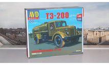 Сборная модель Топливозаправщик Т3-200  AVD Models KIT, масштабная модель, МАЗ, scale43