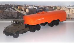 КрАЗ 258Б1 с полуприцепом-цистерной ТЗ-22 (хаки-оранжевый)  АИСТ