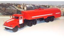 КрАЗ 258Б1 с полуприцепом-цистерной ТЗ-22 (пожарный)  АИСТ, масштабная модель, scale43, Автоистория (АИСТ)