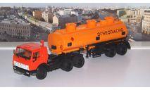 КАМАЗ-54112 с полуприцепом НЕФАЗ-96742  ПАО КАМАЗ, масштабная модель, 1:43, 1/43