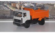 МАЗ 55514023 самосвал (1997-1999), серый-оранжевый  НАП, масштабная модель, 1:43, 1/43, Наш Автопром