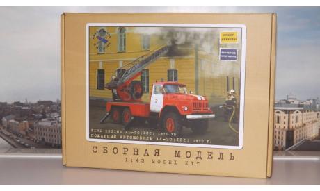 Сборная модель Пожарная автолестница АЛ-30 (131), 1970 г.    AVD Models KIT, сборная модель автомобиля, 1:43, 1/43, Автомобиль в деталях (by SSM), ЗИЛ