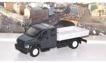 ГАЗон C42R31 бортовой, тёмно-серый / серый  НАП, масштабная модель, Наш Автопром, scale43