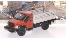 ГАЗон C41A23 бортовой, красно-коричневый / серый   НАП, масштабная модель, Наш Автопром, scale43