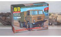 Сборная модель Автомобиль-фургон хлебный АФХ (66)  AVD Models KIT, масштабная модель, scale43, ГАЗ