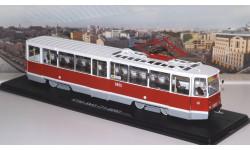 Трамвай КТМ-5М3 (71-605) Ленинград, маршрут 26   SSM