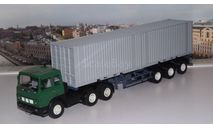 МАЗ-6422 с полуприцепом-контейнеровозом МАЗ-938920 АИСТ, масштабная модель, 1:43, 1/43, Автоистория (АИСТ)