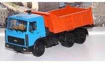 МАЗ 5516 самосвал (1995г.), голубой / оранжевый  НАП, масштабная модель, 1:43, 1/43, Наш Автопром