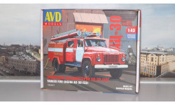 Сборная модель Пожарная автоцистерна АЦ-30(53)-106А  AVD Models KIT