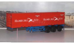 Полуприцеп-контейнеровоз МАЗ-938920 с контейнерами Hamburg Sud  АИСТ