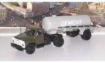 ЗИЛ-130В1 с полуприцепом ТЦ-4 АИСТ, масштабная модель, 1:43, 1/43, Автоистория (АИСТ)