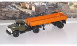 ЗИЛ-130В1 с полуприцепом ОДАЗ-885, масштабная модель, 1:43, 1/43, Автоистория (АИСТ)