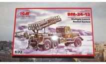 Сборная модель  ЗиЛ-157  БМ-24-12 'Катюша'  ICM, масштабная модель, 1:72, 1/72