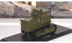 Трактор ЧТЗ-100 металлические траки (хаки)  SSM