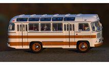 672 бело-жёлтый  ClassicBus, масштабная модель, ПАЗ, scale43