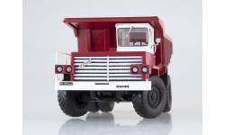Карьерный самосвал БЕЛАЗ-540 выставочный (красный/белый), масштабная модель, scale43