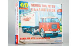 Сборная модель SKODA-706 MTTN с полуприцепом ALKA-N12CH  AVD Models KIT