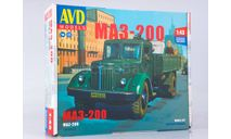 Сборная модель МАЗ-200 бортовой  AVD Models KIT, масштабная модель, scale43