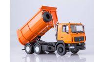 МАЗ-6501 самосвал, U-образный кузов (оранжевый)  АИСТ, масштабная модель, scale43, Автоистория (АИСТ)