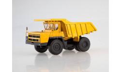 Карьерный самосвал БЕЛАЗ-7522 поздний, жёлтый, масштабная модель, 1:43, 1/43