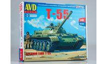 Сборная модель Средний танк Т-55  AVD Models KIT, масштабная модель, scale43