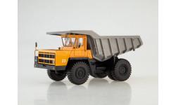Карьерный самосвал БЕЛАЗ-7522 ранний, оранжевый/серый, масштабная модель, 1:43, 1/43