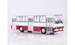 Ikarus-260 бело-красный   Икарус  СОВА, масштабная модель, Советский Автобус, scale43