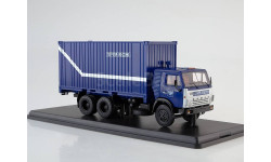КАМАЗ-53212 с 20-футовым контейнером, Почта России SSM, масштабная модель, 1:43, 1/43, Start Scale Models (SSM)