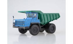 БЕЛАЗ-540А (решётка с 5 поперечинами), синий/зелёный, масштабная модель, 1:43, 1/43
