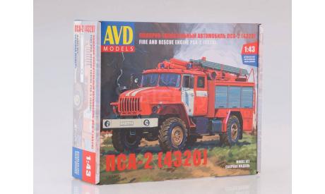 Сборная модель Пожарно-спасательный автомобиль ПСА-2 (4320)   AVD Models KIT, масштабная модель, 1:43, 1/43, УРАЛ