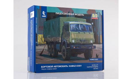 Сборная модель КАМАЗ-53501 6x6 Мустанг   AVD Models KIT, сборная модель автомобиля, 1:43, 1/43, Автомобиль в деталях (by SSM)