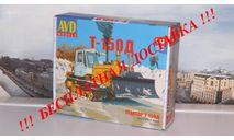 Сборная модель Трактор Т-150 гусеничный с отвалом AVD Models KIT, масштабная модель, 1:43, 1/43