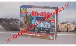 Сборная модель Контейнерный мусоровоз КО-450 (4333) AVD Models KIT, масштабная модель, 1:43, 1/43, ЗИЛ
