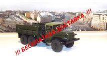 УРАЛ 375 (тентованная кабина) бортовой, хаки АИСТ, масштабная модель, 1:43, 1/43, Автоистория (АИСТ)
