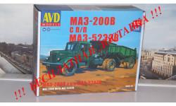 Сборная модель МАЗ-200В с полуприцепом МАЗ-5232В AVD Models KIT, масштабная модель, 1:43, 1/43